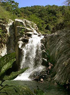 Quimixto Falls and the popular swimming hole