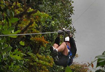 The ultimate thrill ride - ziplining through the jungle